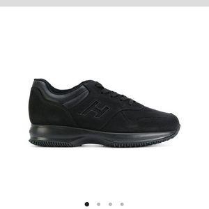 HOGAN lace up mens sneakers in black